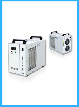 S&A CW-5200DG Industrial Water Chiller (AC 1P 110V 60Hz) for One 130W or 150W CO2 Glass Laser Tube Cooling, 0.93HP