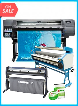 COMPLETE SOLUTION - Plotter HP Latex 315 New + GRAPHTEC CUTTER FC9000-130 54
