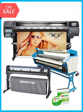 COMPLETE SOLUTION - Plotter HP Latex 360 - Recertified (90 Days Warranty) + GRAPHTEC CUTTER FC9000-160 64