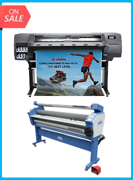 HP Latex 115 - NEW + 55IN FULL-AUTO WIDE FORMAT COLD LAMINATOR, WITH HEAT ASSISTED