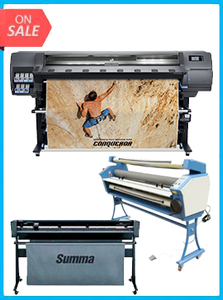 "HP Latex 335 Printer (V7L47A) - New  + SUMMACUT D160 64 IN (160 CM) VINYL AND CONTOUR CUTTING - NEW + UPGRADED VING 63"" FULL-AUTO LOW TEMP. WIDE FORMAT COLD LAMINATOR, WITH HEAT ASSISTED"