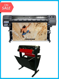"HP Latex 335 Printer (V7L47A) - New + 53"" 3 ARMS CONTOUR CUT VINYL CUTTER W/ VINYLMASTER CUT SOFTWARE"