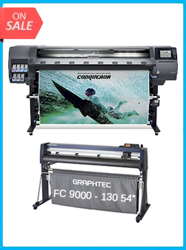 HP Latex 365 Printer (V7L47A) - New + GRAPHTEC FC9000-140 54