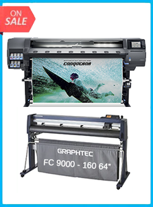 "HP Latex 365 Printer (V7L47A) - New + GRAPHTEC FC9000-160 64"" (162.6 CM) WIDE CUTTER - NEW"