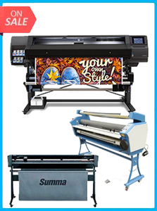 "HP Latex 560 64"" - New + SUMMACUT D160 64 IN (160 CM) VINYL AND CONTOUR CUTTING - NEW + UPGRADED VING 63"" FULL-AUTO LOW TEMP. WIDE FORMAT COLD LAMINATOR, WITH HEAT ASSISTED"