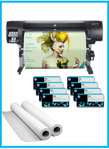 "HP DesignJet Z6600 60"" Photo Production Printer + Starter Supplies + 2 Rolls of Paper"