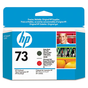 HP 73 Matte Black and Chromatic Red Printhead