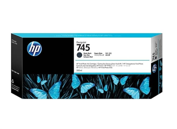 HP 745 300-ml Matte Black DesignJet Ink Cartridge for DesignJet Z2600, Z5600- F9K05A