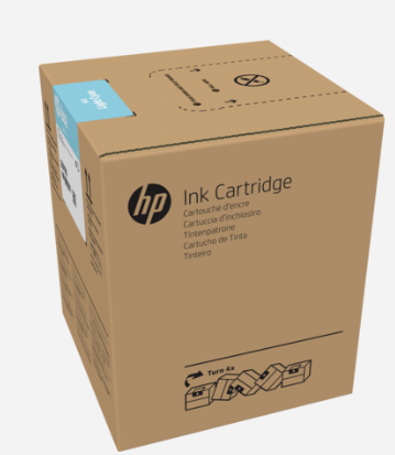 HP 882 5-liter Light Cyan Latex Ink Cartridge for R2000
