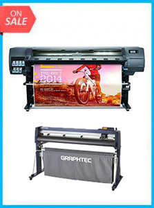 "BUNDLE - Plotter HP Latex 330 64"" - RECERTIFIED - (90 DAYS WARRANTY) + GRAPHTEC CUTTER FC9000-160 64"" (162.6 cm) Wide Cutter"