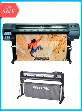 BUNDLE - Plotter HP Latex 335 Printer  New - Include Flexi (Rip Software) + GRAPHTEC CUTTER FC9000-160 64