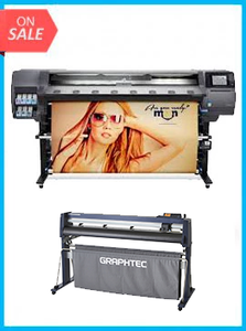 "BUNDLE - Plotter HP Designjet 360 Latex 64in Printer - Recertified - (90 Days Warranty) + GRAPHTEC CUTTER FC9000-160 64"" (162.6 cm) Wide Cutter - New"