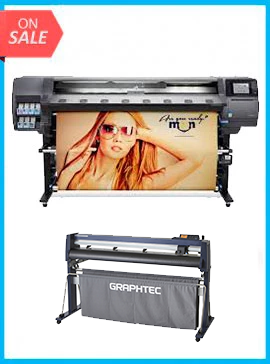 BUNDLE - Plotter HP Designjet 360 Latex 64in Printer - Recertified - (90 Days Warranty) + GRAPHTEC CUTTER FC9000-160 64