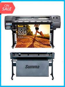 "BUNDLE - Plotter HP Latex 310 54""  - Recertified - (90 Days Warranty) + SummaCut D140 54 in (137 cm) vinyl and contour cutting - New"