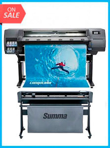 "BUNDLE - Plotter HP Latex 315 54"" New + SummaCut D140 54 in (137 cm) vinyl and contour cutting - New"
