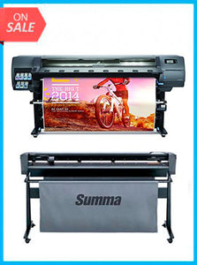 "BUNDLE - Plotter HP Latex 330 64"" - RECERTIFIED - (90 DAYS WARRANTY) + SummaCut D160 64 in (160 cm) vinyl and contour cutting – New"