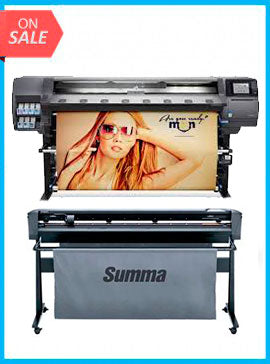 BUNDLE - Plotter HP Designjet 360 Latex 64in Printer - Recertified - (90 Days Warranty) + SummaCut D160 64 in (160 cm) vinyl and contour cutting – New