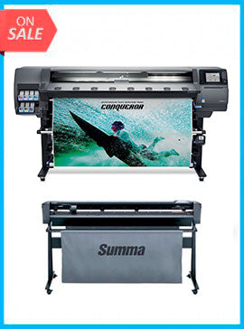 BUNDLE - Plotter HP Designjet 365 Latex 64in Printer New + SummaCut D160 64 in (160 cm) vinyl and contour cutting – New