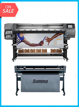 BUNDLE - Plotter HP DESIGNJET LATEX 370 64IN PRINTER - RECERTIFIED (90 DAYS WARRANTY) + SummaCut D160 64 in (160 cm) vinyl and contour cutting – New