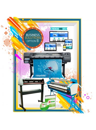 BUSINESS SOLUTION OPTION B - HP LATEX 315 - LAMINATOR - CUTTER - SOFTWARE -PREMIUM WEBSITE