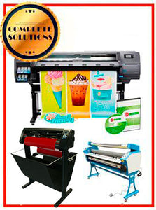 "COMPLETE SOLUTION - Plotter HP Latex 310 - Recertified - (90 Days Warranty) + 55"" Full-Auto Low Temp. Cold Laminator, With Heat Assisted - New + 53"" 3 ARMS Contour Cut Vinyl Cutter w/ VinylMaster Cut Software - New - Includes Flexi RIP Software"
