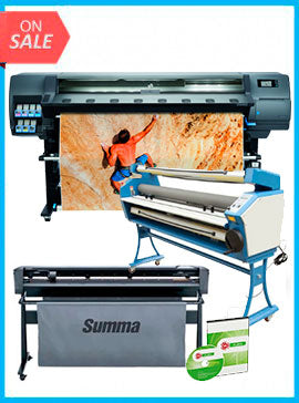 COMPLETE SOLUTION - Plotter HP Latex 335 New + SummaCut D160 64 in (160 cm) vinyl and contour cutting – New + Upgraded Ving 63
