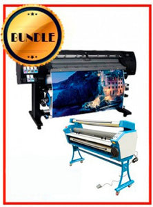 "BUNDLE - Plotter HP Latex 315 - NEW + 55"" Full-Auto Low Temp. Cold Laminator, With Heat Assisted + Flexi RIP Software 1 Year Subscription"