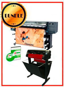 "BUNDLE - HP Latex 335"" Printer - NEW - Include Flexi (Rip Software) + 53"" 3 ARMS Contour Cut Vinyl Cutter w/ VinylMaster Cut Software - New"
