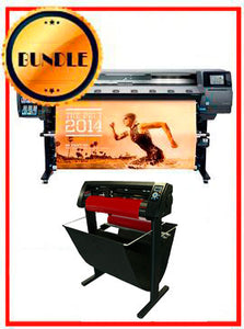 "BUNDLE - Plotter HP Latex 360 64""  - Recertified - (90 Days Warranty) + 53"" 3 ARMS Contour Cut Vinyl Cutter w/ VinylMaster Cut Software - New"