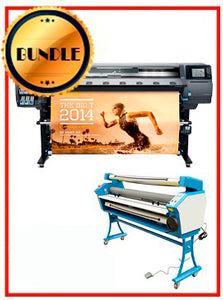 "BUNDLE - Plotter HP Latex 360 64¨ Recertified (90 Days Warranty) + 55"" Full-Auto Low Temp. Cold Laminator, With Heat Assisted"