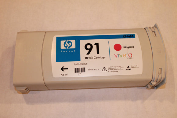 HP 91 Magenta Vivera Starter Ink - 775-ml - C9468A