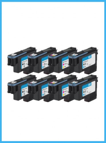 Set of 8 HP 91 Starter Printheads