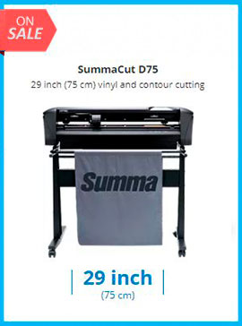 SummaCut D75 29 inch (75 cm) vinyl and contour cutting - New