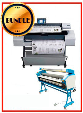 BUNDLE - Plotter HP T1120SD 44¨ Recertified (90 Days Warranty) + 55