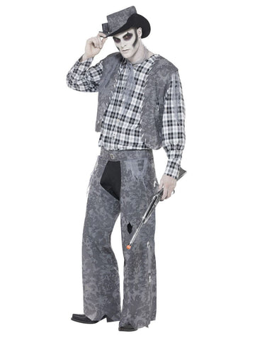 Halloween Ghost Town Cowboy Fancy Dress Costume (M)