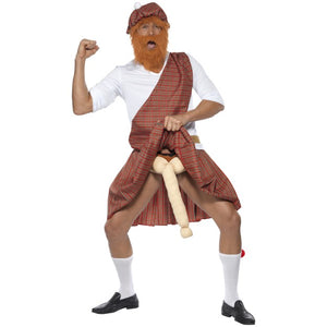 Well Hung Scottish Highlander Fancy Dress Costume (Medium) 6 Piece.