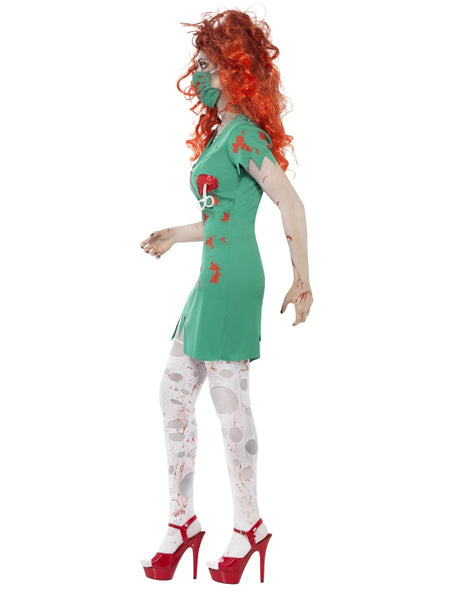 Adult Womens Halloween Zombie Scrub Nurse Costume (Large UK 16-18)