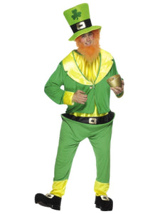 Adult Unisex Leprechaun Irish St Patrick's Paddy Fancy Dress Costume (One Size Fits All)