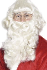 Adult Deluxe Santa Father Christmas Beard and Wig Set Christmas New Year SALE