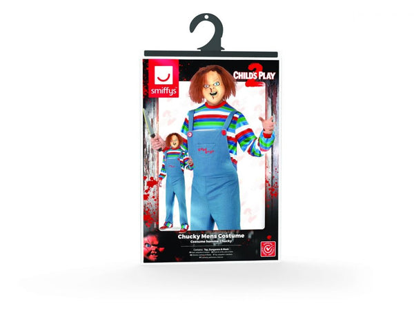 Mens Childs Play Chucky Doll Halloween Costume - Medium & Large