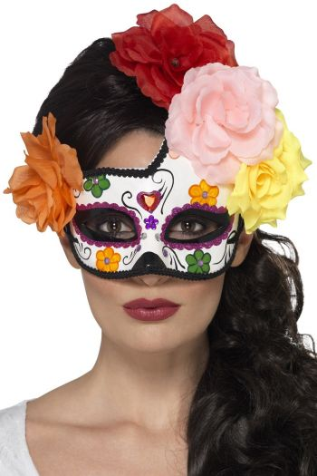 Mens Womens Day of The Dead Halloween Festival Voodoo Gothic Face and Eye Masks
