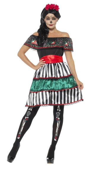 Mens Womens Day of The Dead Festival Halloween Voodoo Gothic Fancy Dress Costumes and Accessories Huge Choice