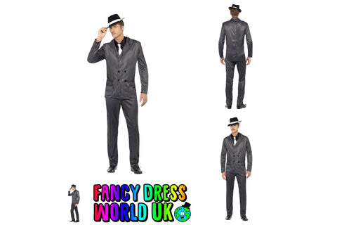 Adult Mens Ace American Gangster Mob Godfather Costume (Large)