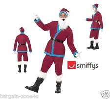 Adult Father Christmas Santa Fancy Dress Costume Jacket Trousers Hat and Beard