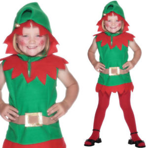 Toddler Boys and Girls Christmas Elf Fancy Dress Party Costume - Santa's Little Helper Grotto North Pole Elf Film Party Fun (Toddler 1-2 Years) 26019*
