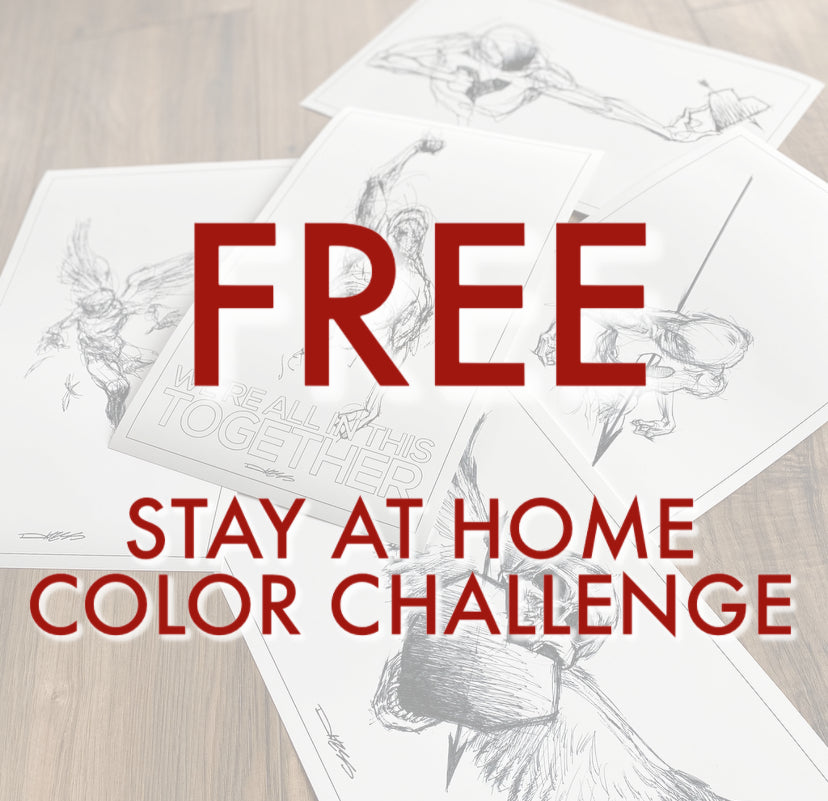 FREE!  STAY AT HOME COLOR CHALLENGE