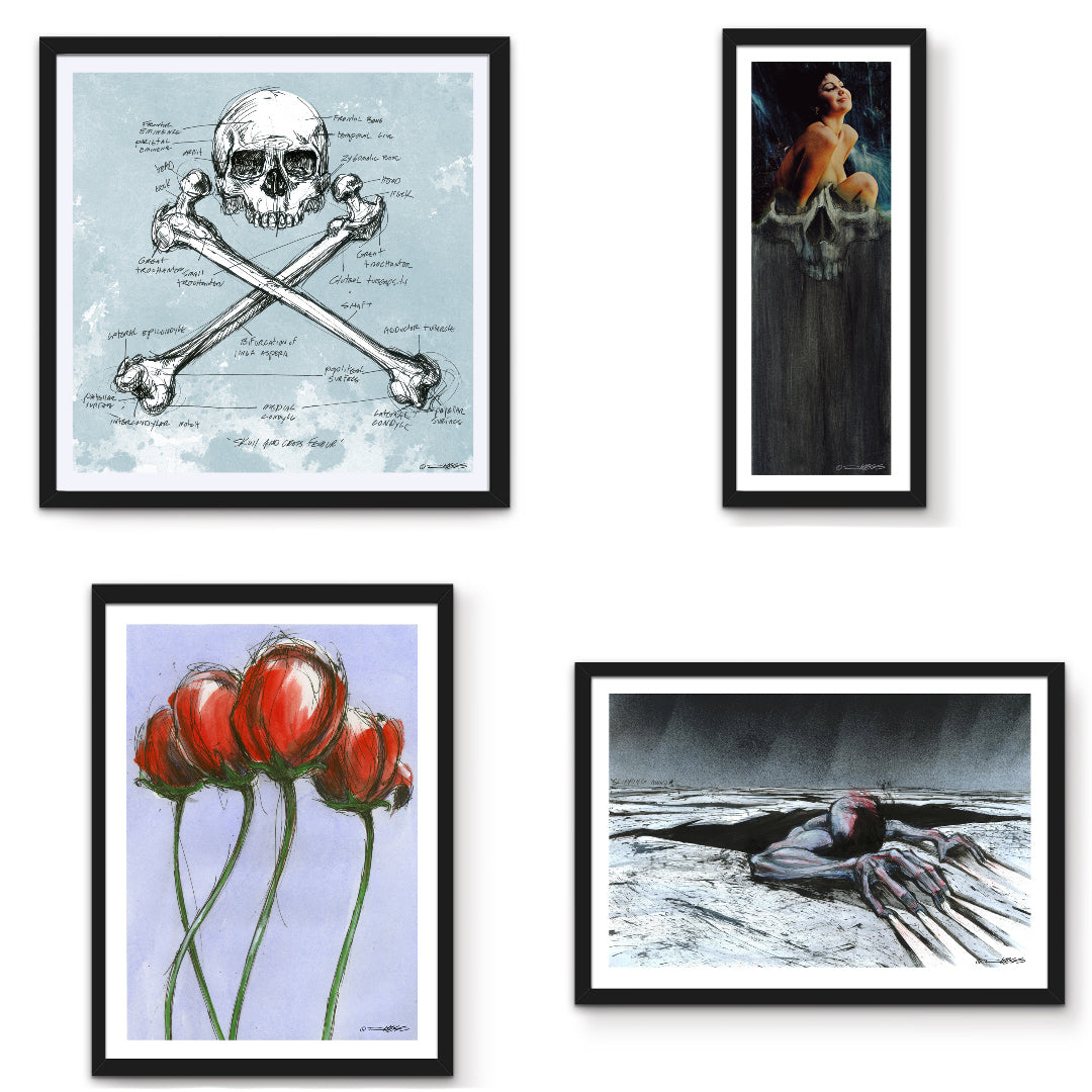 Skull & Femurs and Slipping Away among new prints available!