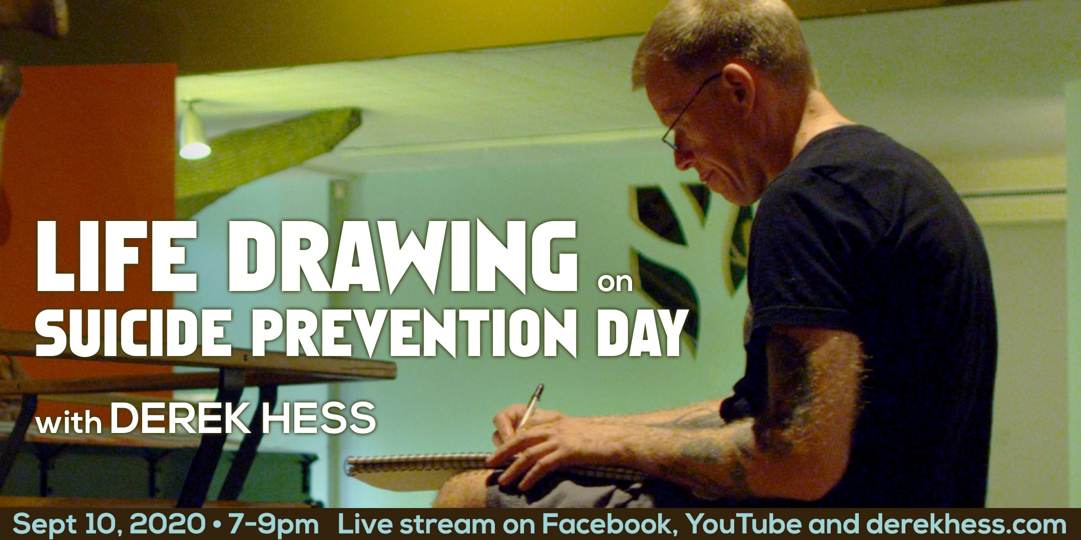 Free! Life Drawing on Suicide Prevention Day with Derek Hess