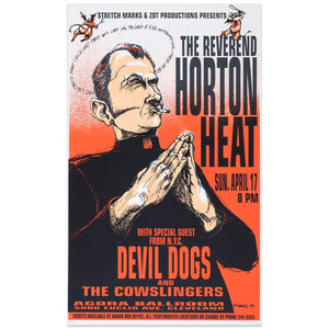 The Reverend Horton Heat w/ Devil Dogs - Derek Hess