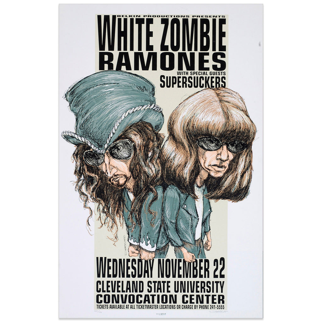 White Zombie w/ The Ramones & Supersuckers - Derek Hess